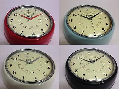 Retro Vintage Shabby Chic Round Wall Clock Traditional Quartz Alphabetic Clock