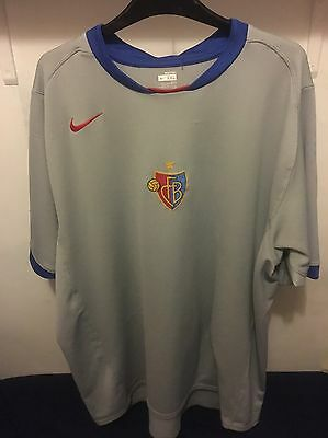 Mens FC Basel Nike Football Shirt Size XXL 2007 Away Soccer Swiss 2XL Retro