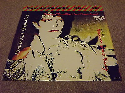 "David Bowie Scary Monsters Rare 12"" Vinyl Single not CD"