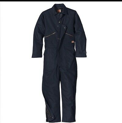 Red Kap Insulated Blended Duck Coverall CD32 - Navy Blue - Medium