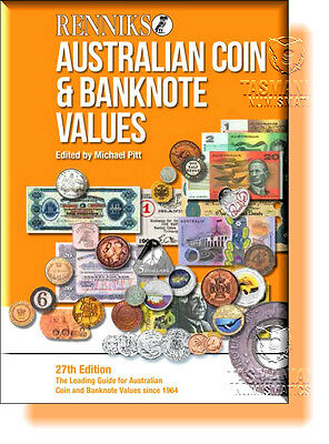 Renniks Australian Coins & Banknotes Catalogue Values 27th Edition Book 2016