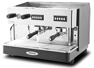 Monroc 2 Group Commercial Coffee machine + Water Filter Expresso Machine
