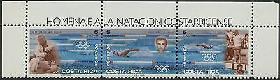 Costa Rica 1996 MNH Stamp Strip | Scott 491 | Summer Olympics - Swimming