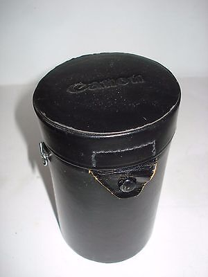 Vintage CANON LEATHER LENS CASE - for 200mm LENSES - FREE SHIPPING