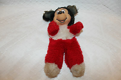 """Vintage Mickey Mouse Rubber Face and Stuffed Body.This old Mickey Is 10"""" Tall"""