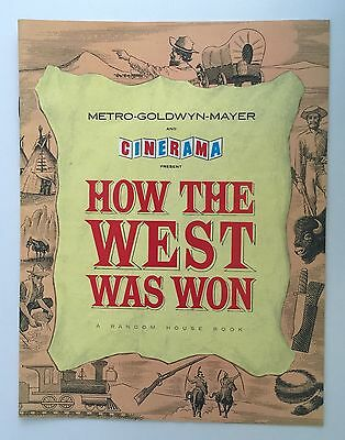 How The West Was Won 1962 John Wayne Cinerama MGM Movie Programme Random House
