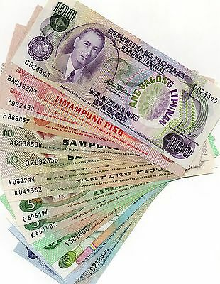 PHILIPPINES Asia 15 different peso banknotes all UNC 1 of a kind set