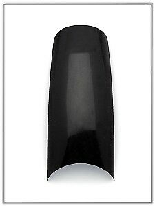Tip Jar Black Salon Curve French Tip (Box of 110) - MADE IN USA