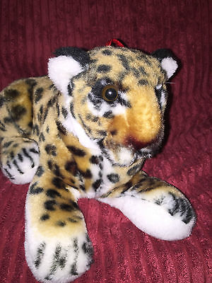 Lying  Leopard Cub soft toy  26cm with Hanging tag