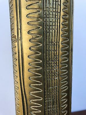 Midcentury Brass Carved Lamp