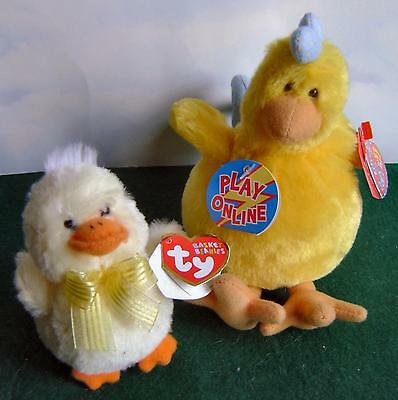 Ty~Beanie Babies 2.0~Basket Beanies~Sunlight Duckling~Henley Chick~Easter~Nmwt