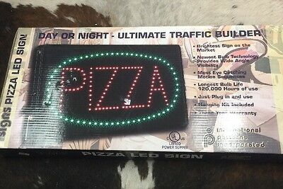 Oval Pizza Led Sign Neon Light 12 Inch 24 Inch Bright Business Sign With Tracers