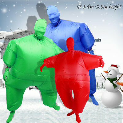 Inflatable Fat Chub Suit Fancy Dress Party Costume Adult Jumpsuit Funny Game
