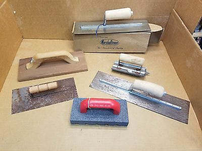Lot of Marshalltown Masonry Hand Tools Groover, Float,Trowels, Concrete Brick
