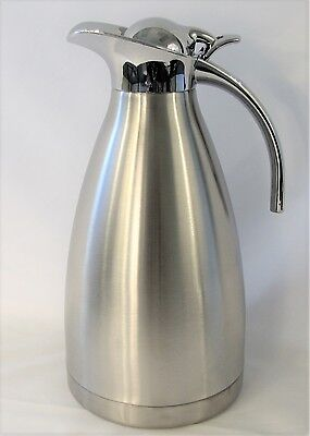 2L 68OZ Stainless Steel Carafe Double Walled Vacuum Thermos Water Pitcher New