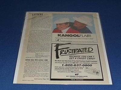 1992 Original Kangol Hat Print Ad | With Clear Bag & Backboard! | #7