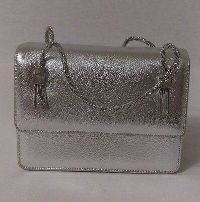 Vintage 1960s Magda Makkay small Silver Purse Hand Bag with Metal Hardware
