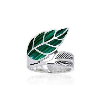 Leaf .925 Sterling Silver Ring Choice of Gem by Peter Stone
