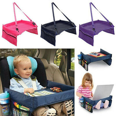 Safety Waterproof Playn Snack Tray Baby Car Seat Table Kids Play Drawing Board