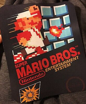 Old School Games Gamer Mario Bros Video Games 80s 8.5 X 7  Mousepad Mouse Pad