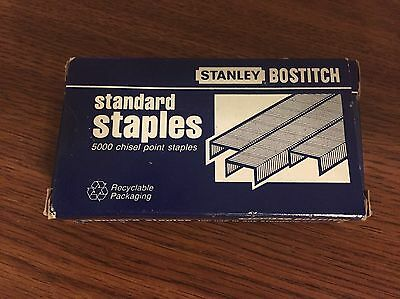 Stanley Bostitch Staples 5000 ct Chisel Point for Standard Staplers SBS191/4CP