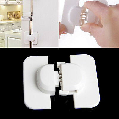 Child Infant Baby Kids Drawer Door Cabinet Cupboard Toddler Adhesive Safety Lock