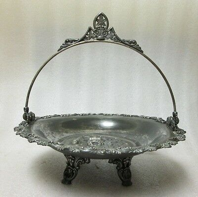 Victorian Silverplate Repousse Brides Basket Unsigned Eastlake Aesthetic Era!!