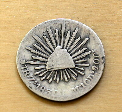 1839 Zs OM Mexico 1 Real Silver