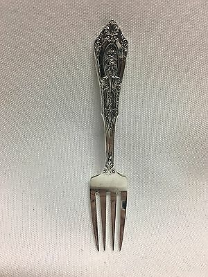 """Wallace Rose Point Sterling Silver Baby Fork 4 3/8"""" No Mono"""