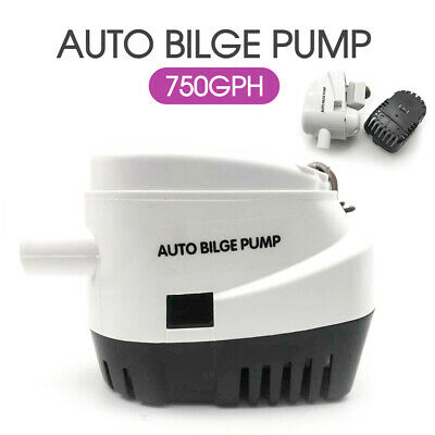 750GPH 12V Boat Automatic Bilge Water Pump Marine Submersible Float Switch AU