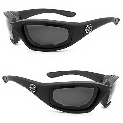 615461fac11 Chopper Wind Resistant Sunglasses Extreme Sports Motorcycle Riding Glasses  Black