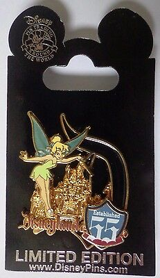 Disney Pin DLR Disneyland® Park Opening Day 55th Anniversary Tinker Bell Le 2000