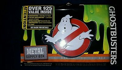 Ghostbusters emboss Metal  Supply  Box Case new good collector's piece