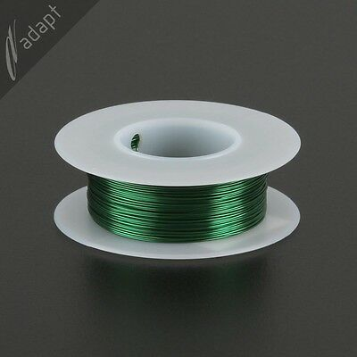 25 AWG Gauge Magnet Wire Green 125' 155C Solderable Enameled Copper Coil Winding