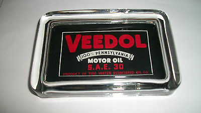 Veedol Tydol Motor Oil Gas Station Advertising Sign Ad Logo Glass Paperweight