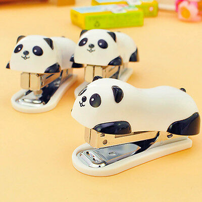 Kid's Student Cute Cartoon Panda Mini Stapler with 640 Staples For Office School