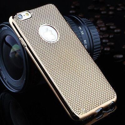 Dotted Luxury Electroplating Soft Clear TPU Case Gold For iPhone 6 Plus {AP11