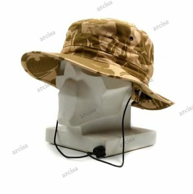 Original British Army boonie hat Sun Bush Hat Tropical camo combat kids child