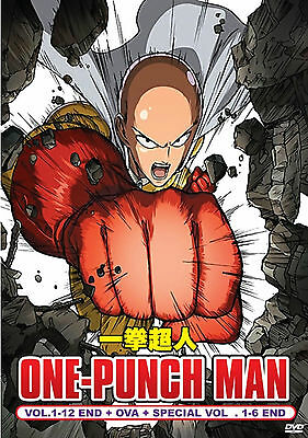 DVD One Punch Man Vol 1-12 + OVA+Special Vol.1-6 End Wanpanman English Subtitle