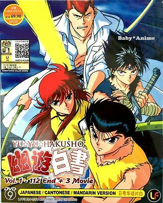 DVD Japanese Anime Yu Yu Hakusho Ghost File Complete Vol 1-112 End + 3 Movie