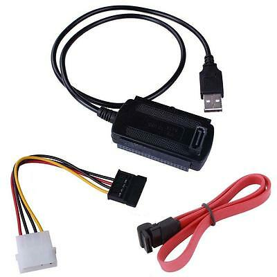 SATA/PATA/IDE to USB 2.0 Adapter Converter Cable for 2.5/3.5 Inch Hard Drive SS