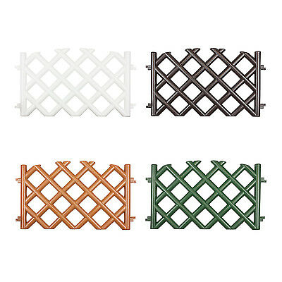 Garden fence 40 cm high in 4 colours, all weather, hammer in, easy to install