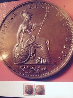 William Iv Proof Halfpenny Rare Item A Few Patches Of Corrosion On Obverse