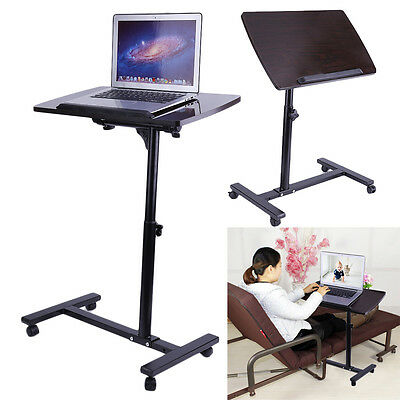 Drive Medical Overbed Laptop Food Tray Rolling Table Adjustable Hospital Desk MY