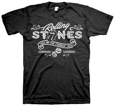 Rolling Stones- Tumblin Dice T-Shirt Black New Shirt Tee