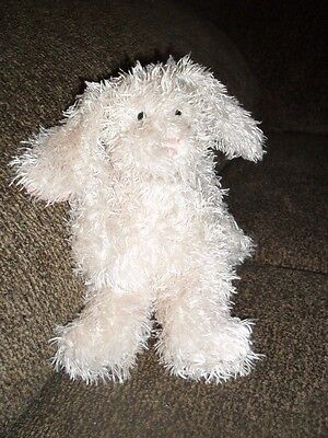 Jellycat Small Cream Bunny With Pink Velvet ears 6""