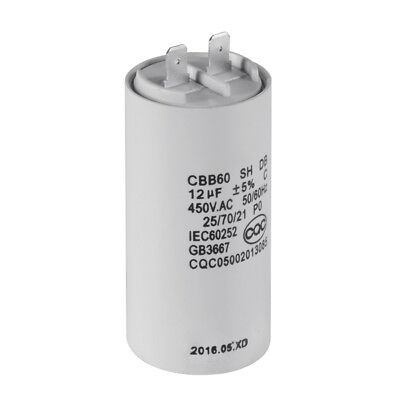 CBB60 12uF 450V AC Motor Run Start Capacitor 50/60Hz for Washing Machine HS839