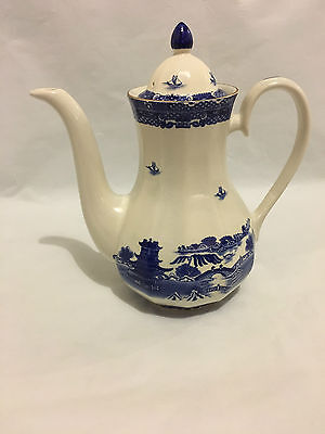 Ringtons Coffee Pot ~ Willow Design ~ Made By Wade For Ringtons  Vgood Condit