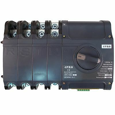 4PRO ATS-125A, 230/400V 50-60Hz Automatic Transfer Changeover Switch, 1-3ph, 4P