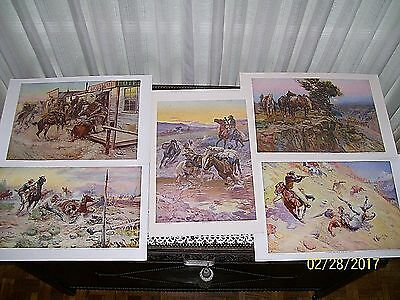 Charles M. Russell Prints-5 (Outlaws vs The Law)/Brown & Bigelow Repro-N. Porter